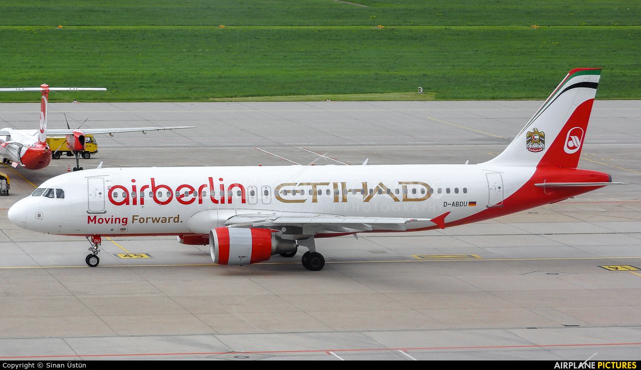 Air Berlin D-ABDU aircraft at Stuttgart