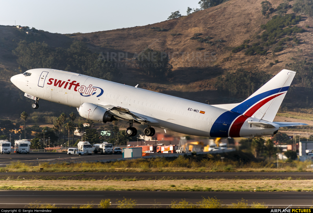 Swiftair EC-MCI aircraft at Tenerife Norte - Los Rodeos