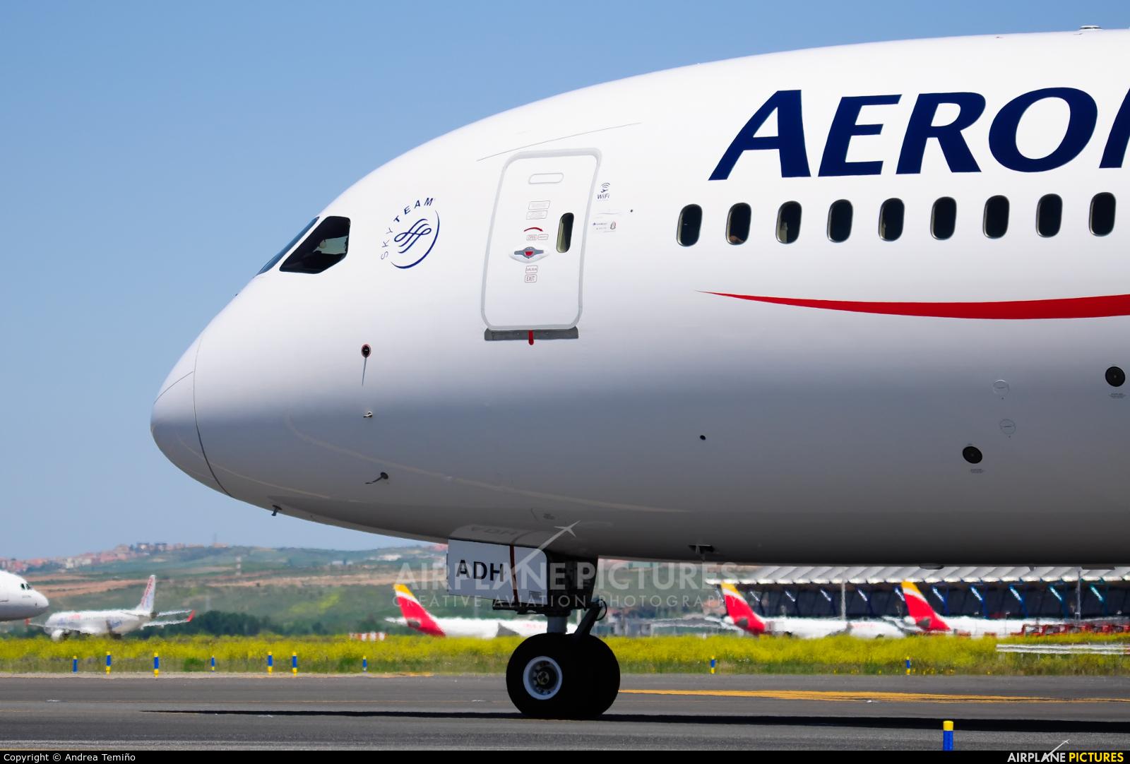 Aeromexico XA-ADH aircraft at Madrid - Barajas