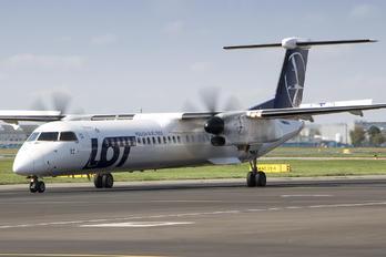 OY-YBZ - LOT - Polish Airlines de Havilland Canada DHC-8-400Q / Bombardier Q400