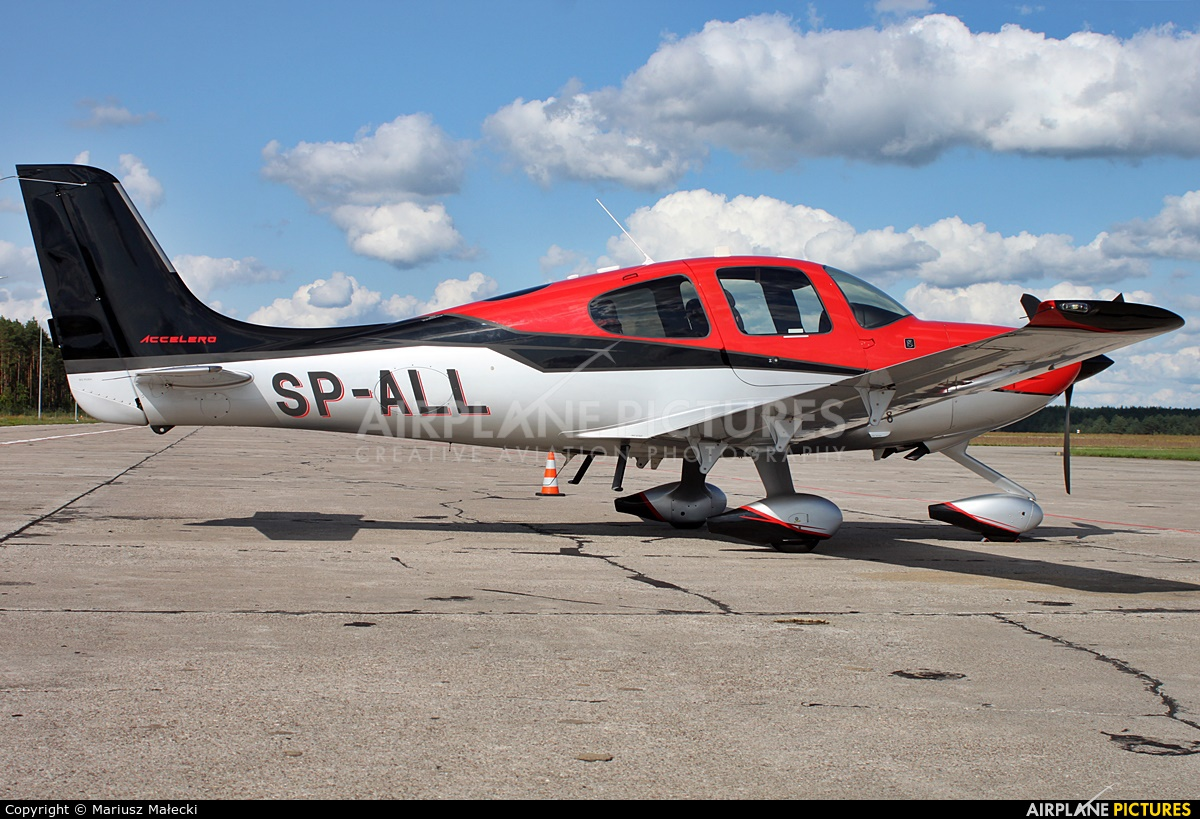 Private SP-ALL aircraft at Olsztyn Mazury Airport (Szymany)