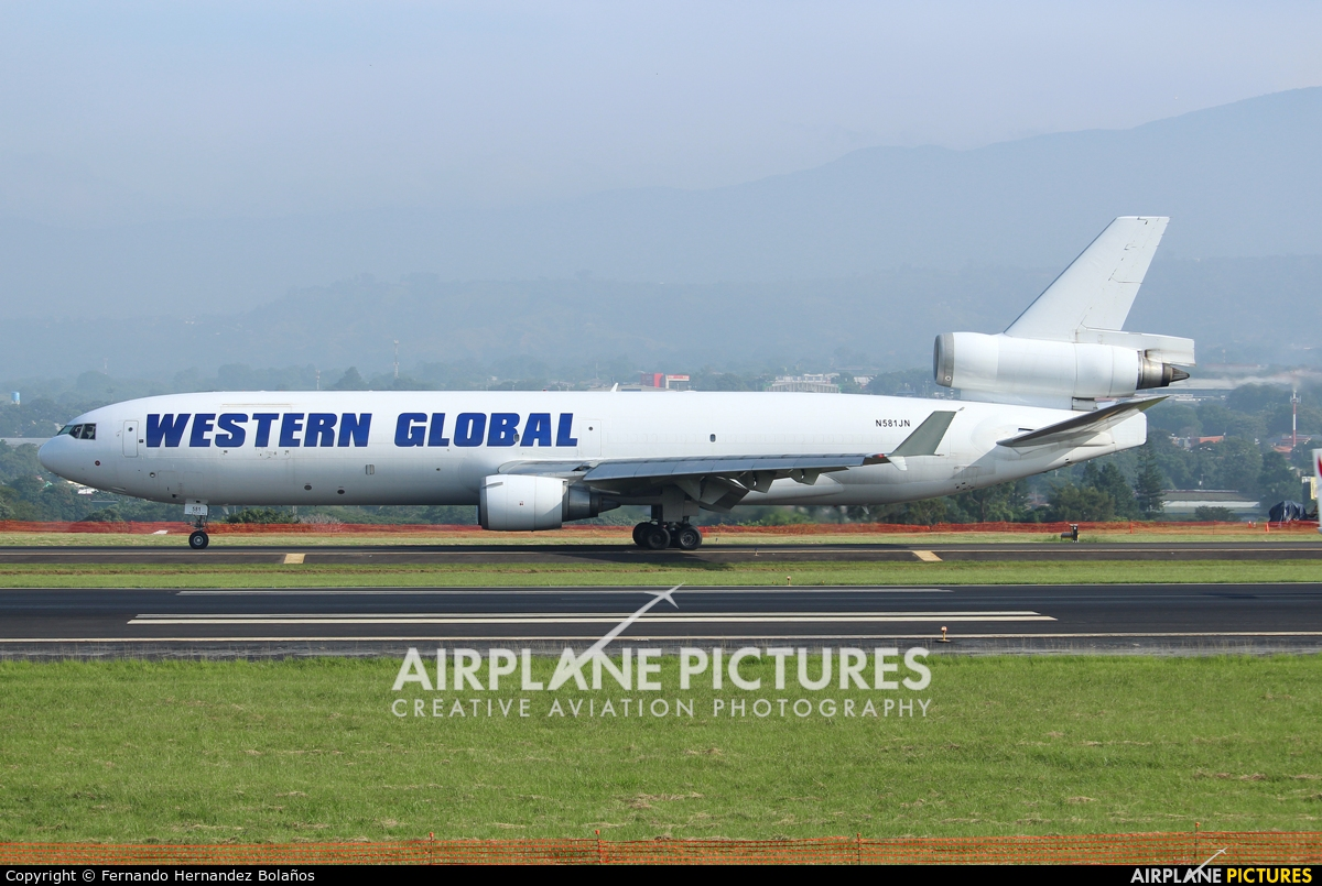 Western Global Airlines N581JN aircraft at San Jose - Juan Santamaría Intl