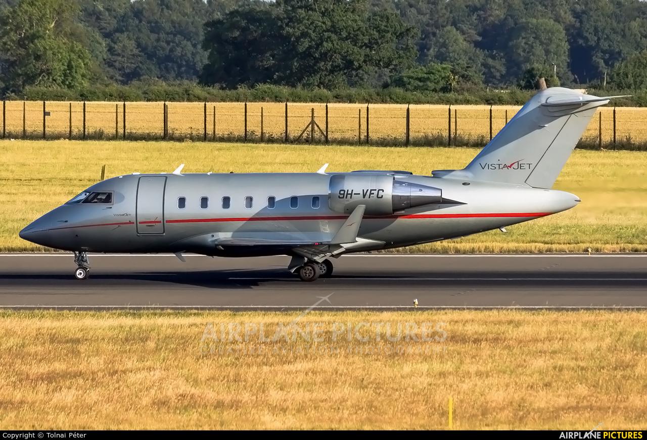 Vistajet 9H-VCF aircraft at London - Luton
