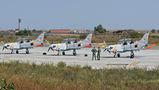 Six Polish PZL 130 Orlik TC-1s visited Craiova