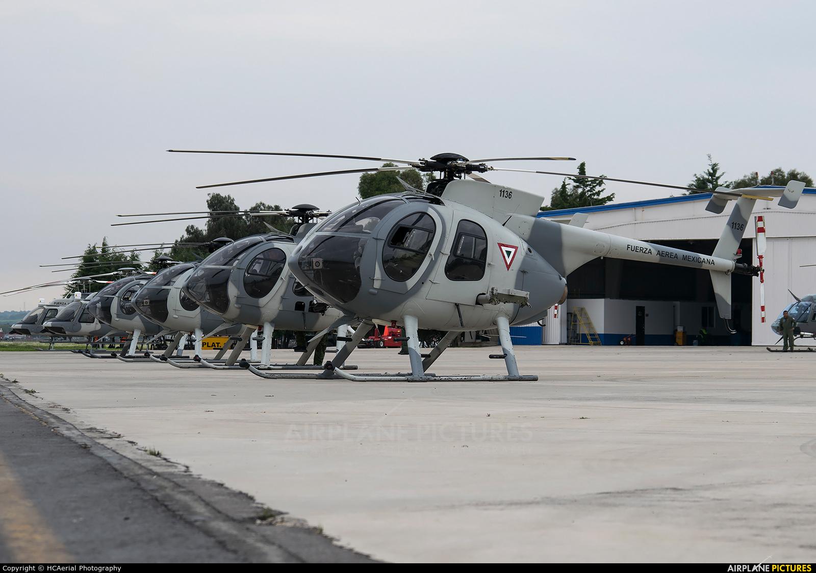 Mexico - Air Force 1136 aircraft at Santa Lucia AB