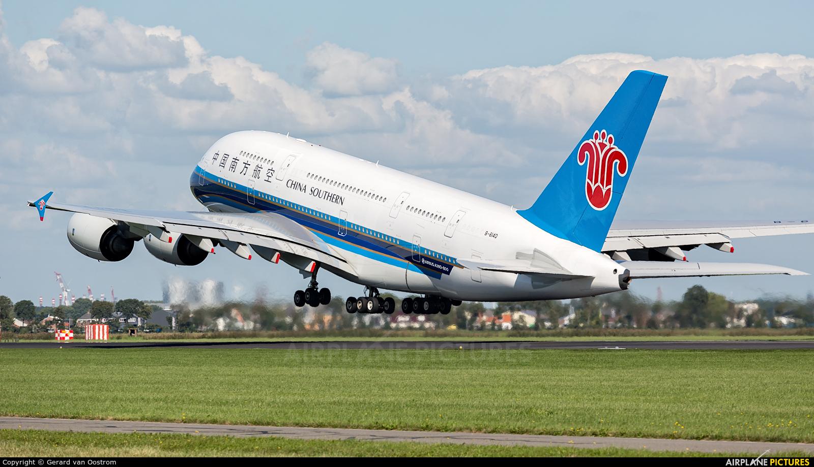China Southern Airlines B-6140 aircraft at Amsterdam - Schiphol