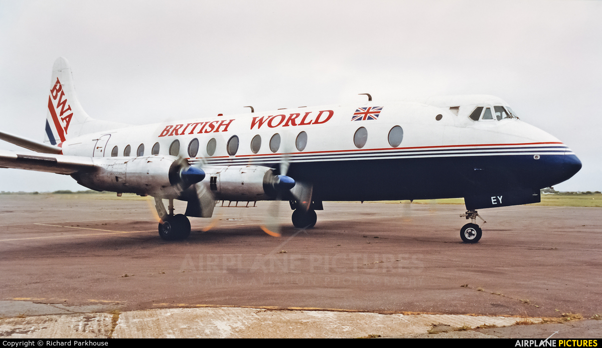 British World Airlines G-APEY aircraft at Lydd