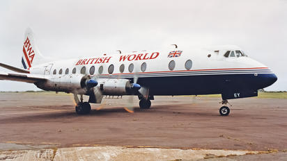 G-APEY - British World Airlines Vickers Viscount