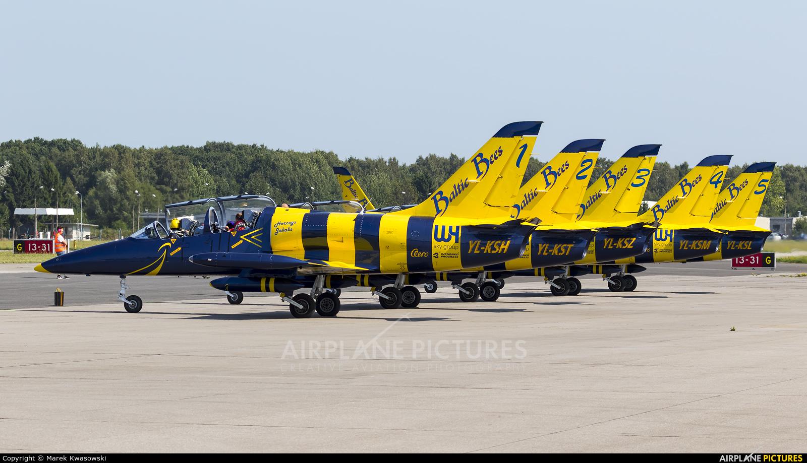 Baltic Bees Jet Team YL-KSH aircraft at Gdynia- Babie Doły (Oksywie)