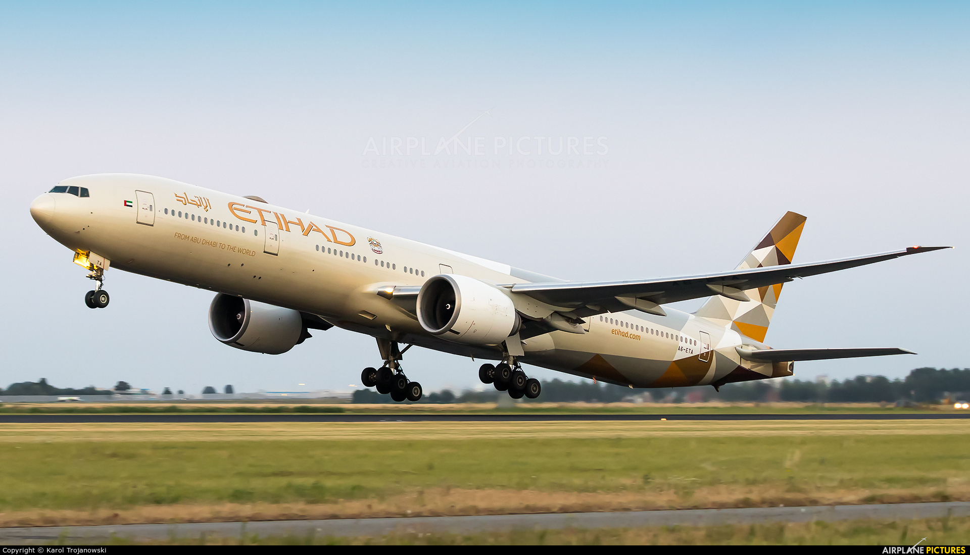 Etihad Airways A6-ETA aircraft at Amsterdam - Schiphol