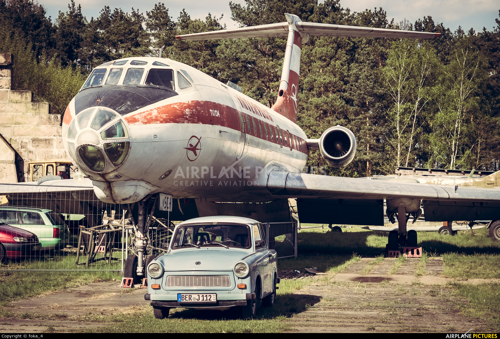 Interflug DDR-SCH aircraft at Finow