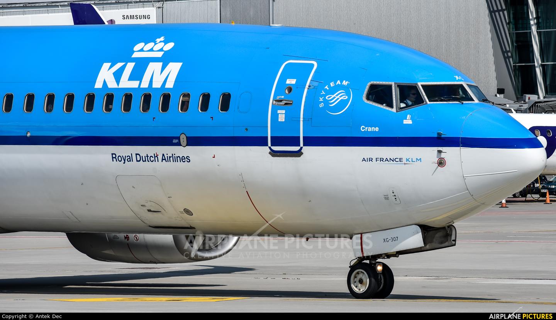 KLM PH-BXG aircraft at Warsaw - Frederic Chopin