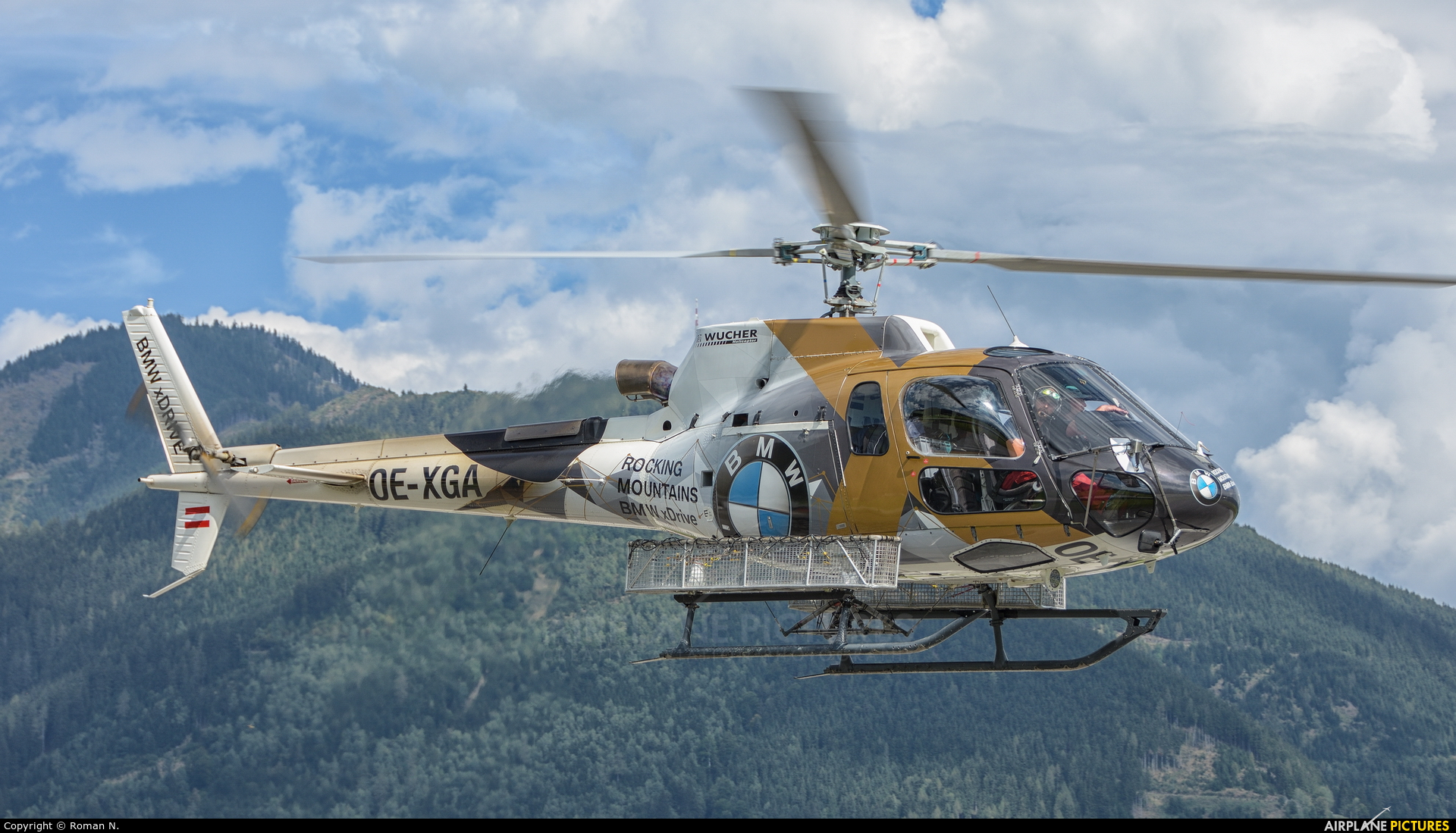 Wucher Helicopter OE-XGA aircraft at Zell am See