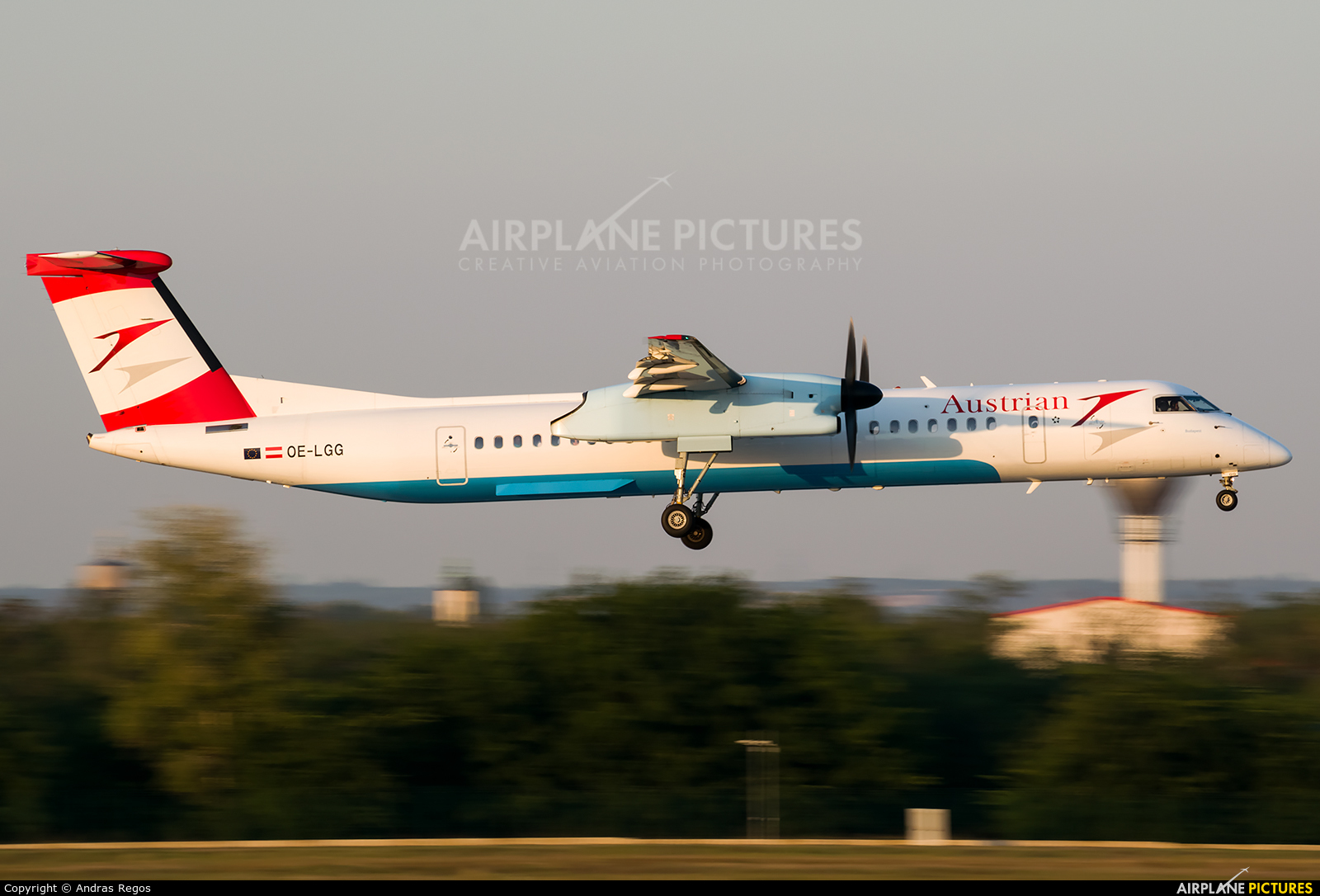 Austrian Airlines/Arrows/Tyrolean OE-LGG aircraft at Budapest Ferenc Liszt International Airport