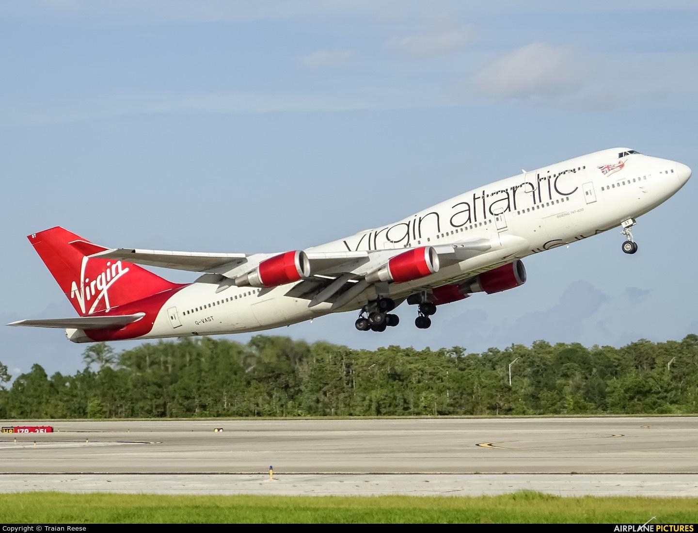 Virgin Atlantic G-VAST aircraft at Orlando Intl