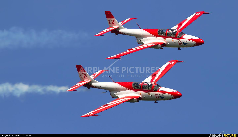 Poland - Air Force: White & Red Iskras 1 aircraft at Ostrava Mošnov