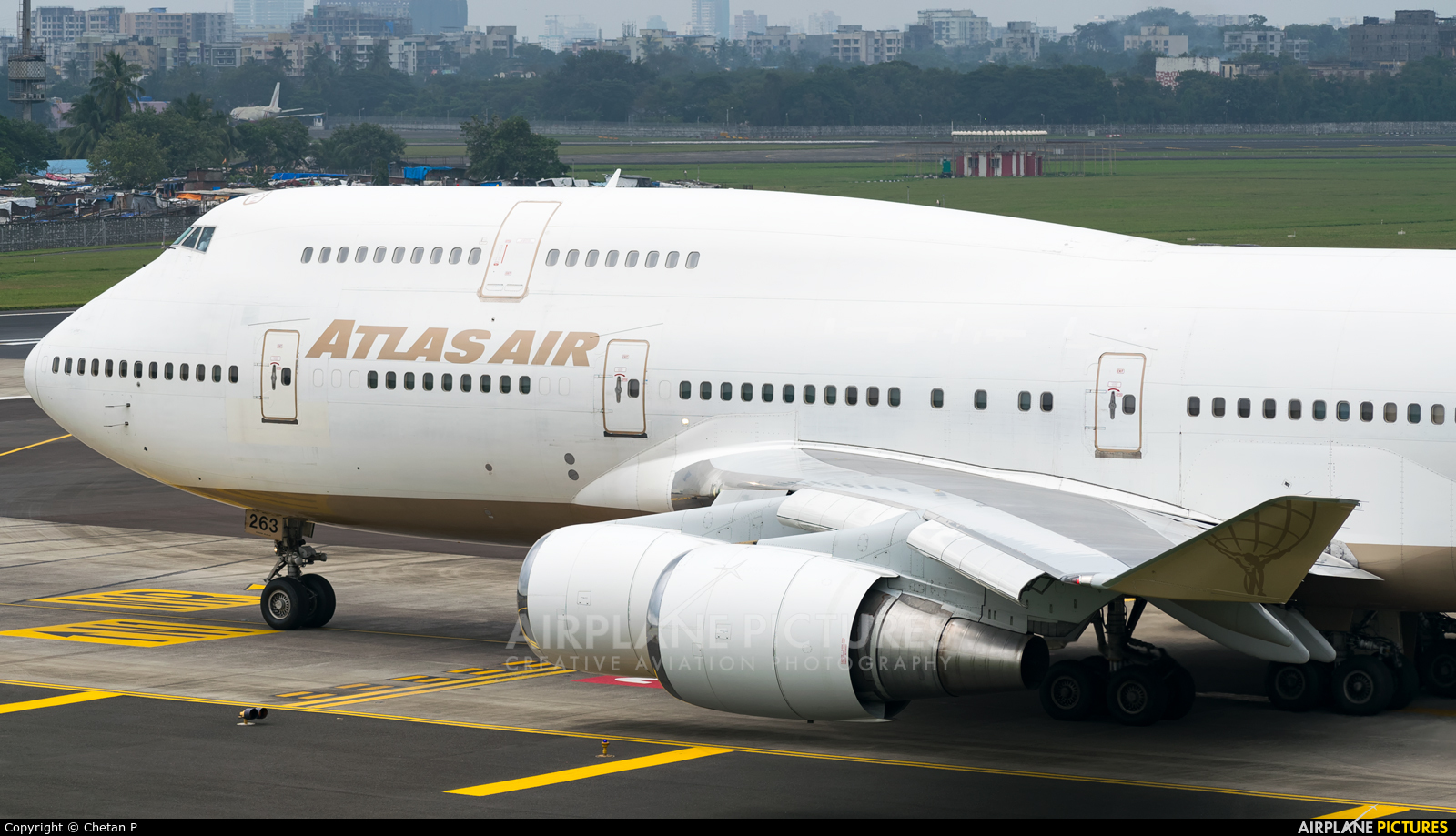 Atlas Air N263SG aircraft at Mumbai - Chhatrapati Shivaji Intl
