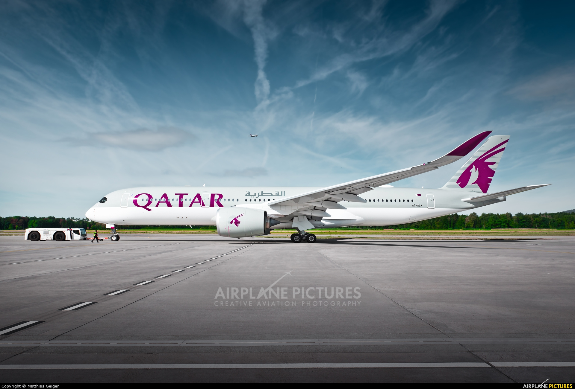Qatar Airways A7-ALX aircraft at Zurich