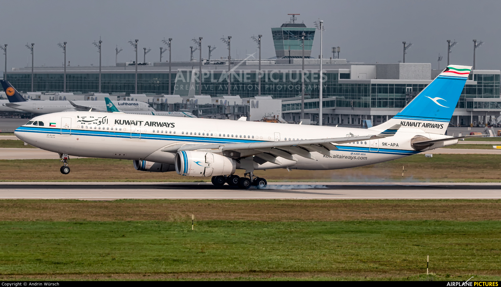 Kuwait Airways 9K-APA aircraft at Munich