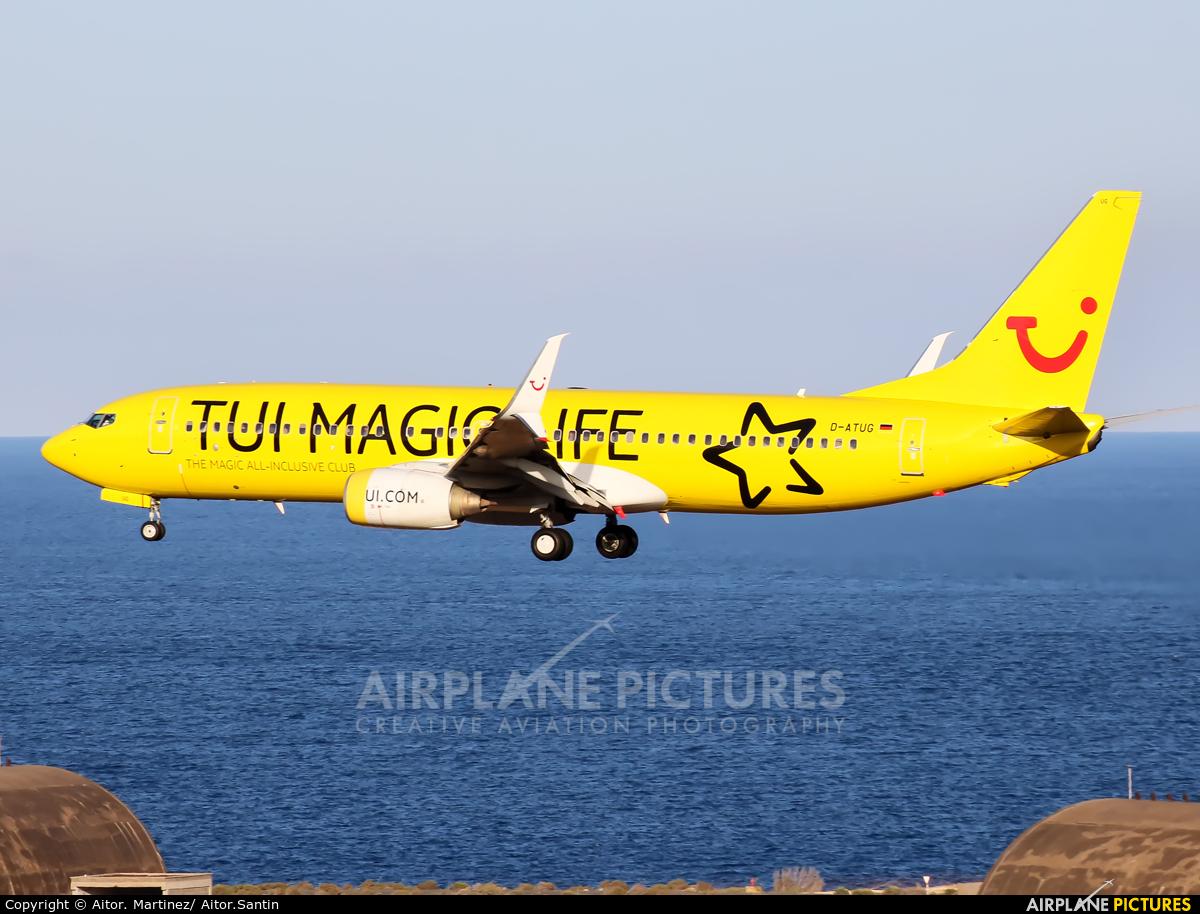 TUIfly D-ATUG aircraft at Aeropuerto de Gran Canaria