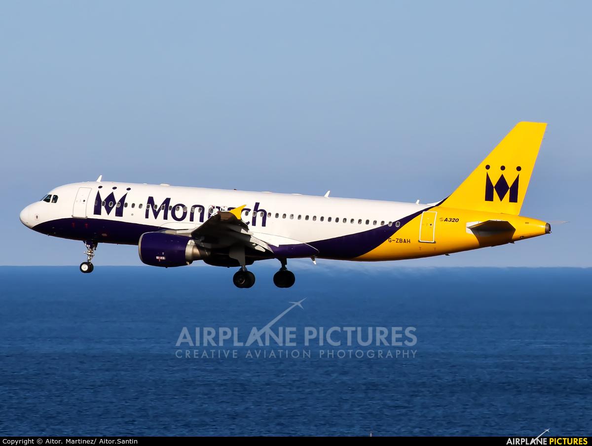 Monarch Airlines G-ZBAH aircraft at Aeropuerto de Gran Canaria