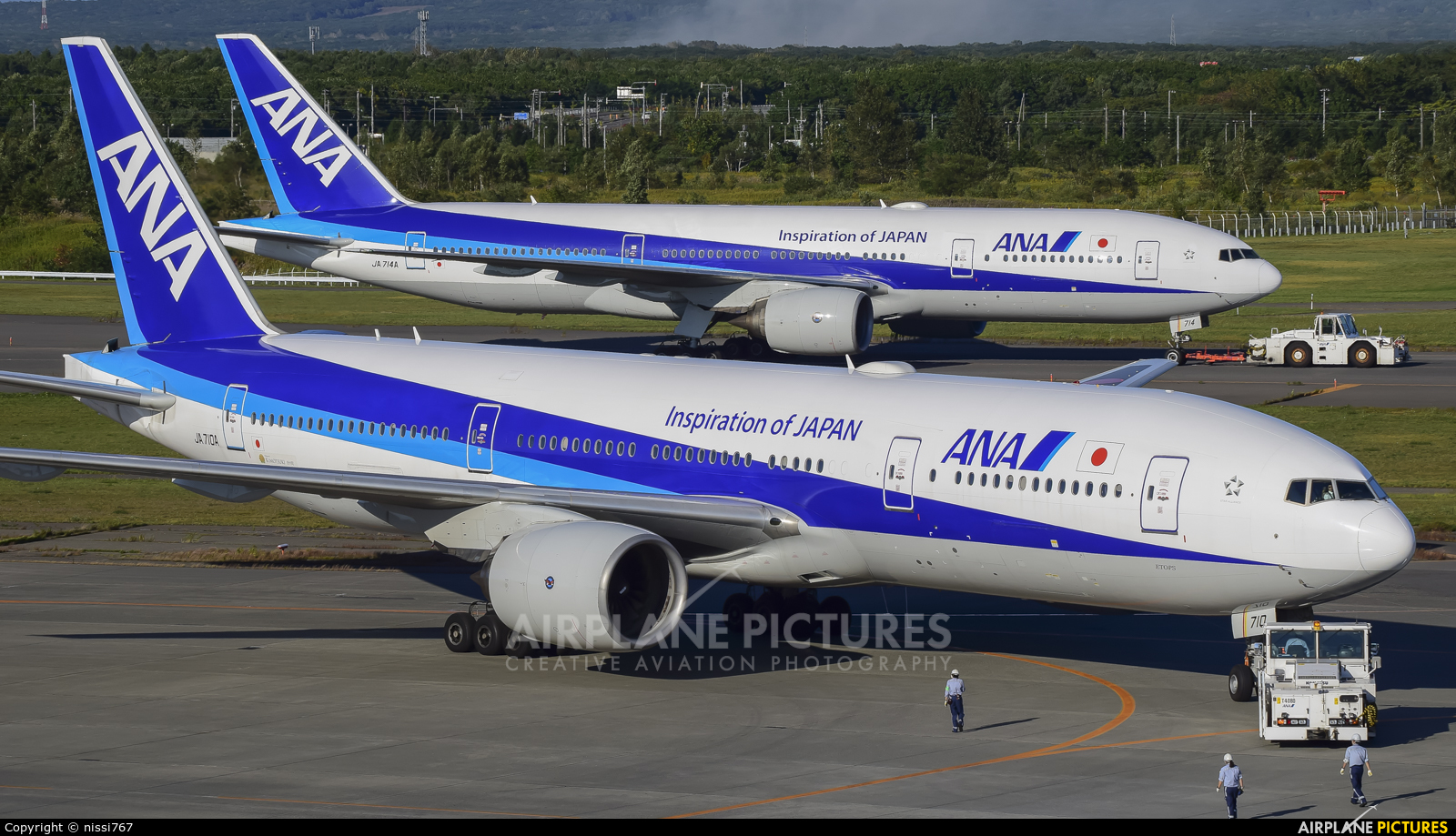 ANA - All Nippon Airways JA710A aircraft at New Chitose