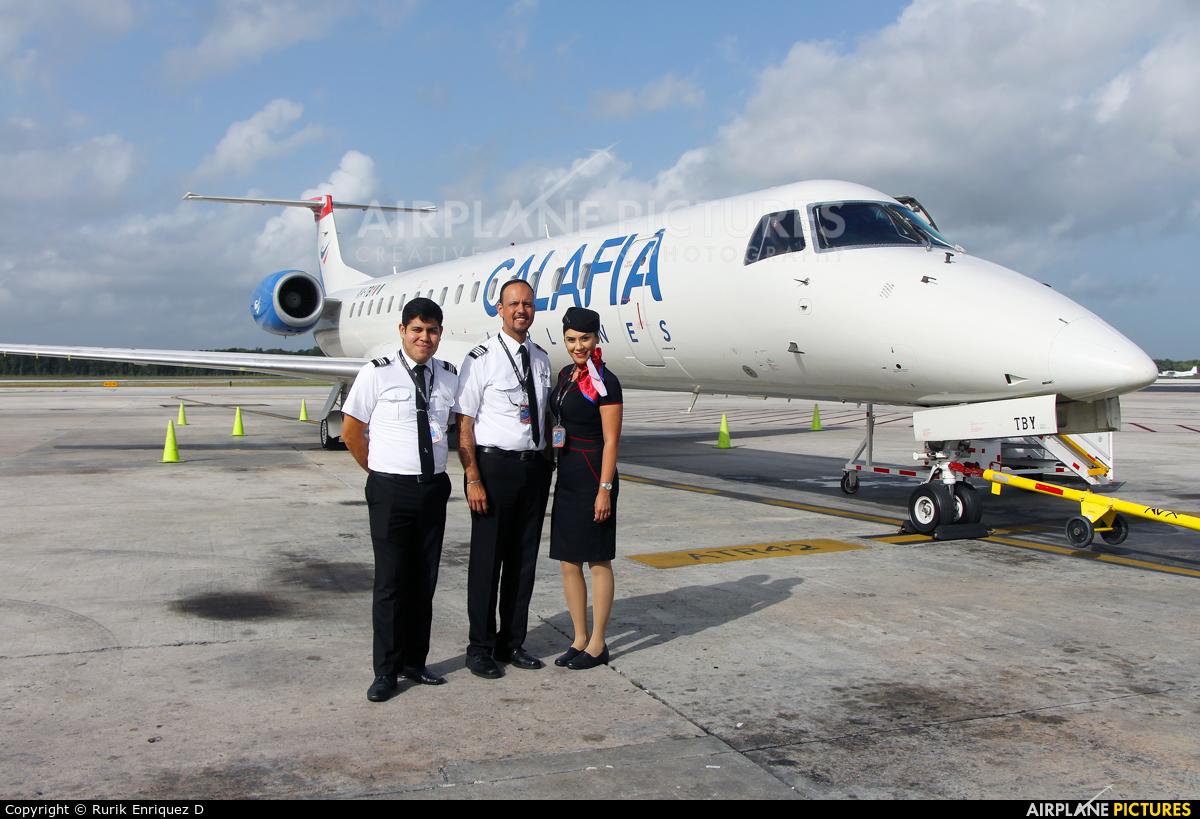 Calafia Airlines XA-TBY aircraft at Cancun Intl