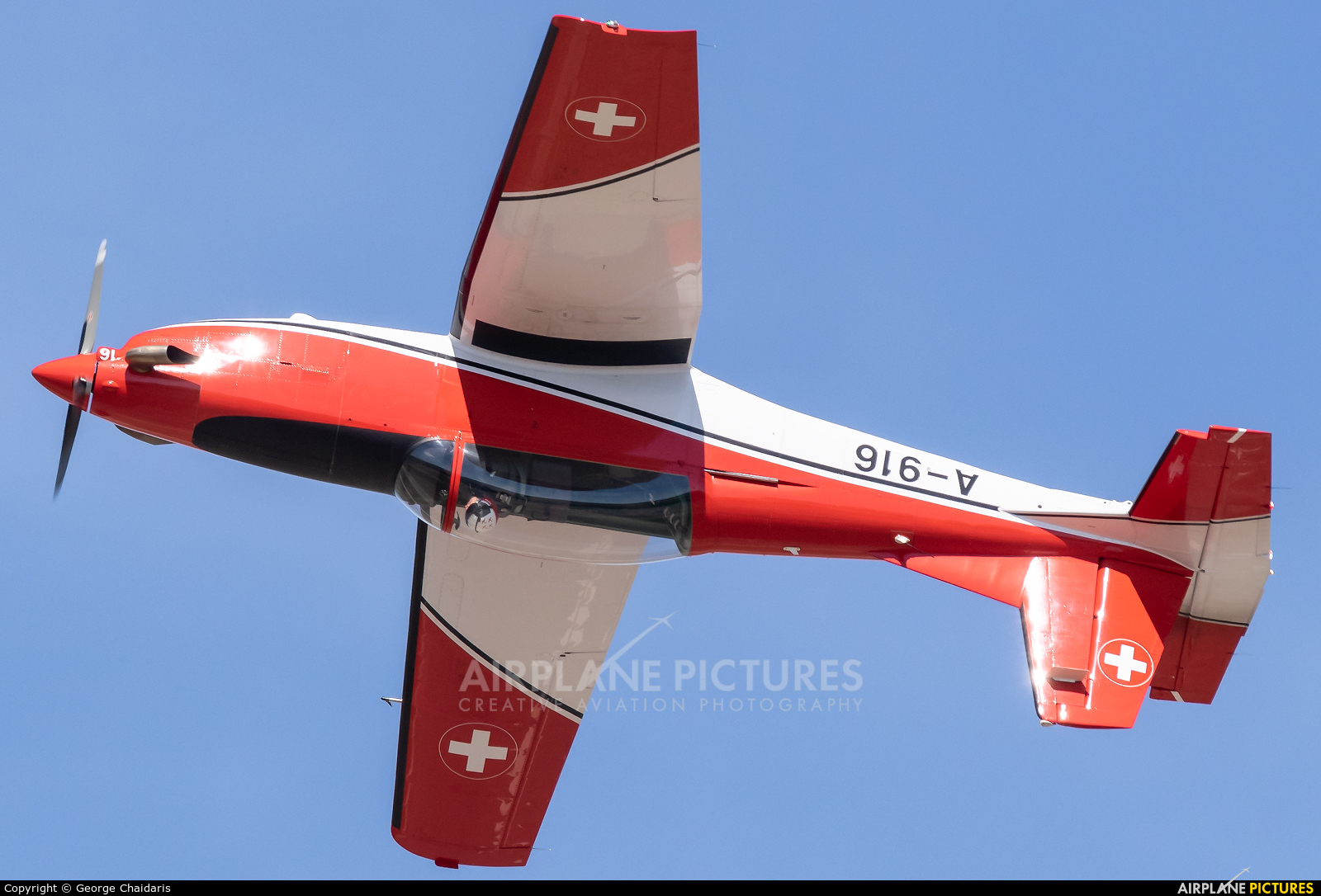 Switzerland - Air Force A-916 aircraft at Tanagra