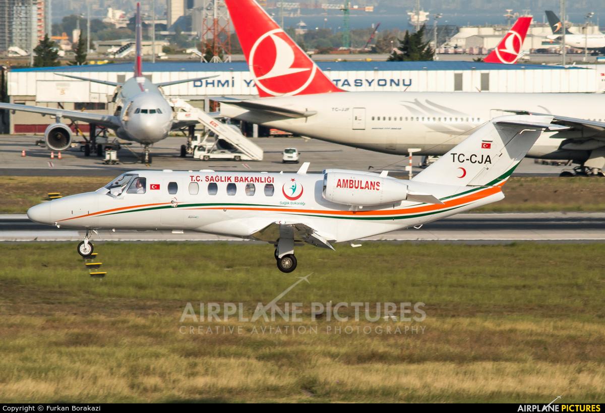Private TC-CJA aircraft at Istanbul - Ataturk