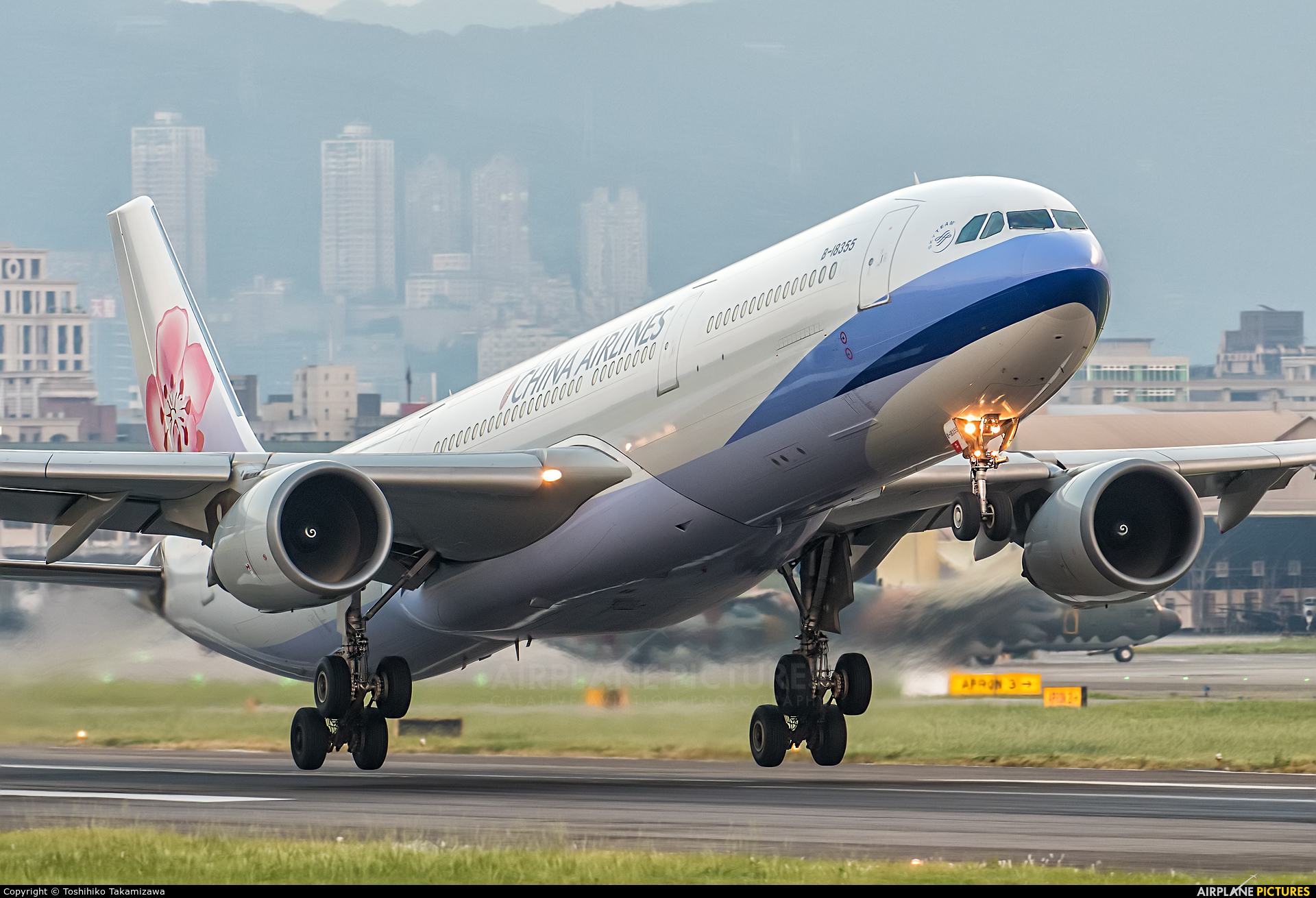 China Airlines B-18355 aircraft at Taipei - Sung Shan