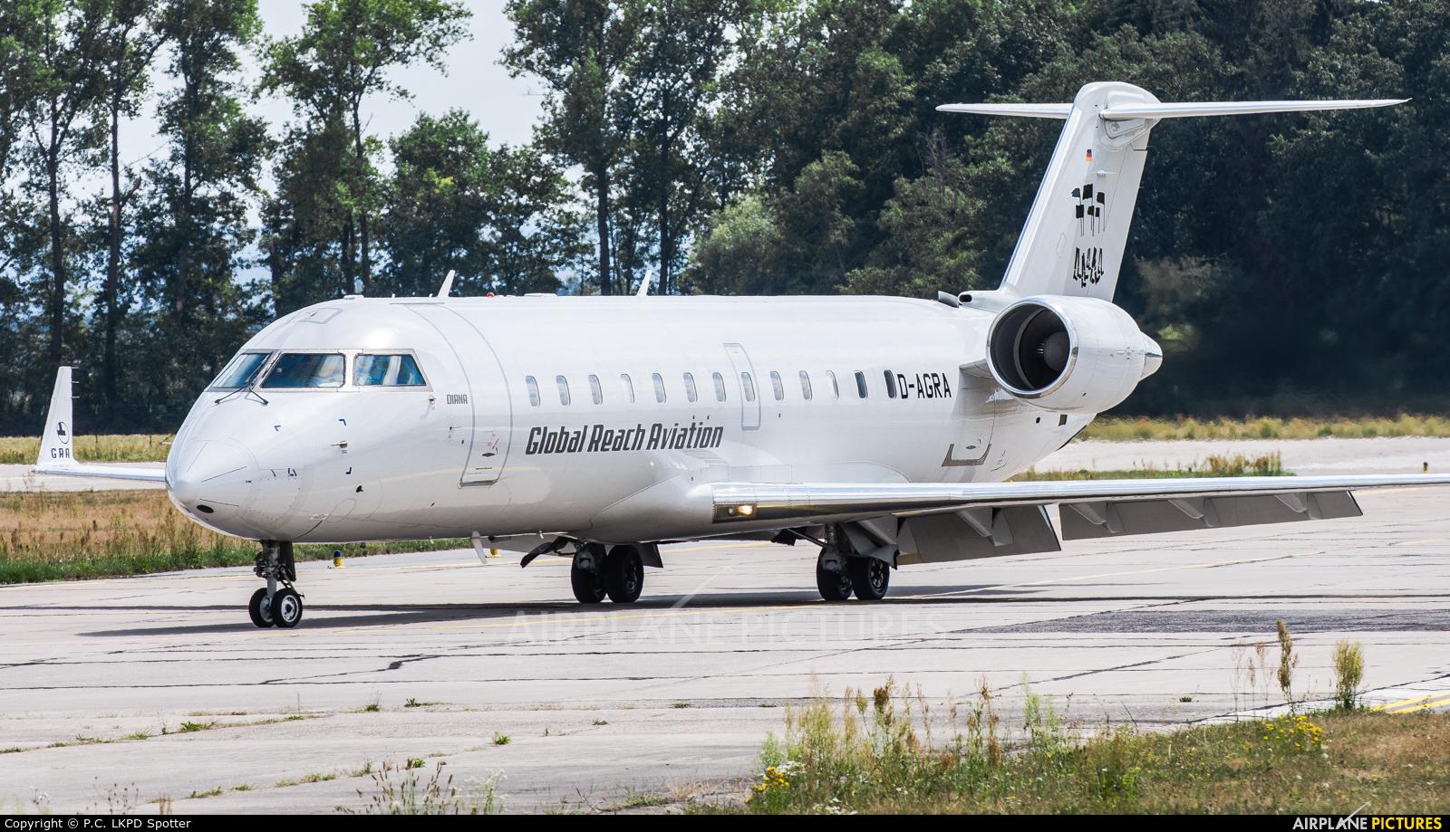 Global Reach Aviation D-AGRA aircraft at Pardubice