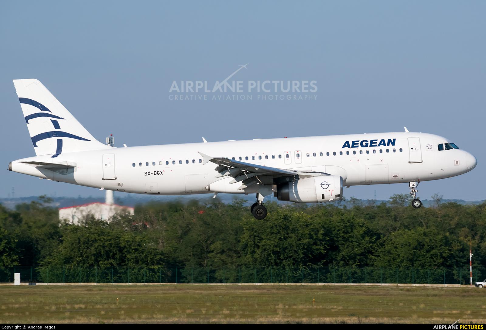 Aegean Airlines SX-DGX aircraft at Budapest Ferenc Liszt International Airport