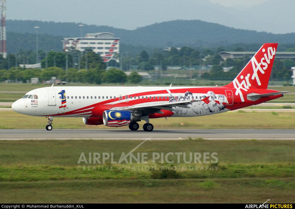 AirAsia (Thailand) 9M-AFP aircraft at Kuala Lumpur Intl