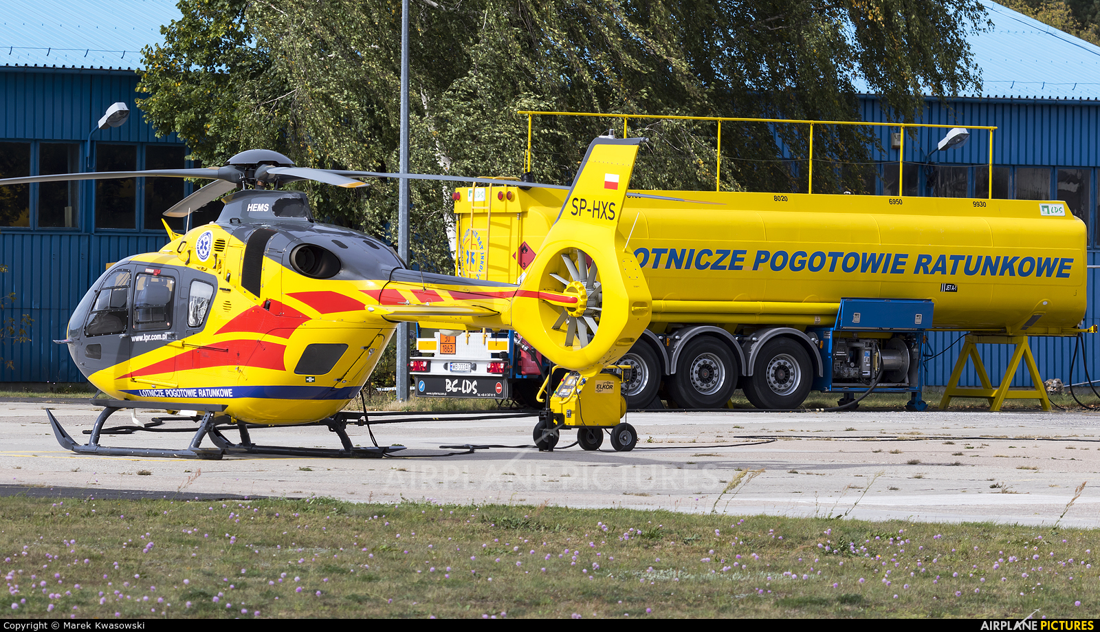 Polish Medical Air Rescue - Lotnicze Pogotowie Ratunkowe SP-HXS aircraft at Warsaw - Babice