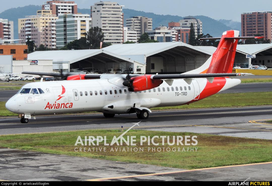 Avianca TG-TRD aircraft at Guatemala - La Aurora