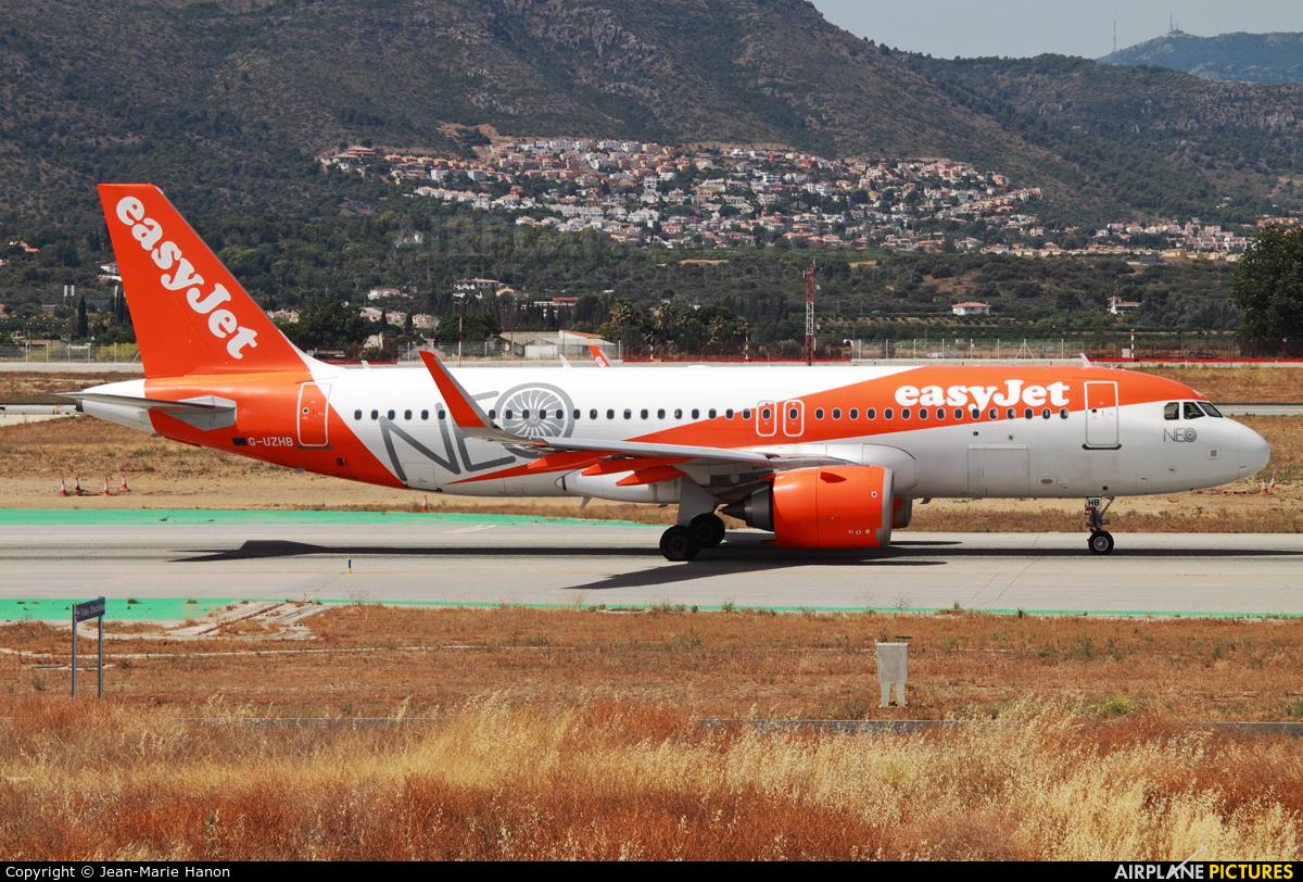 easyJet G-UZHB aircraft at Málaga