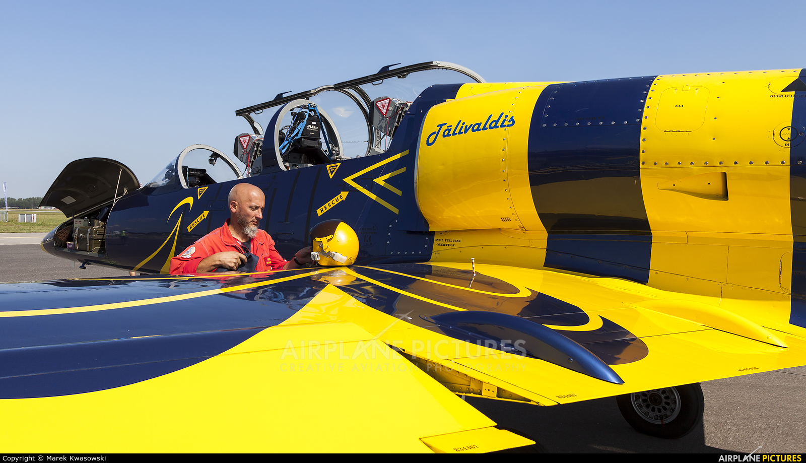 Baltic Bees Jet Team YL-KST aircraft at Gdynia- Babie Doły (Oksywie)