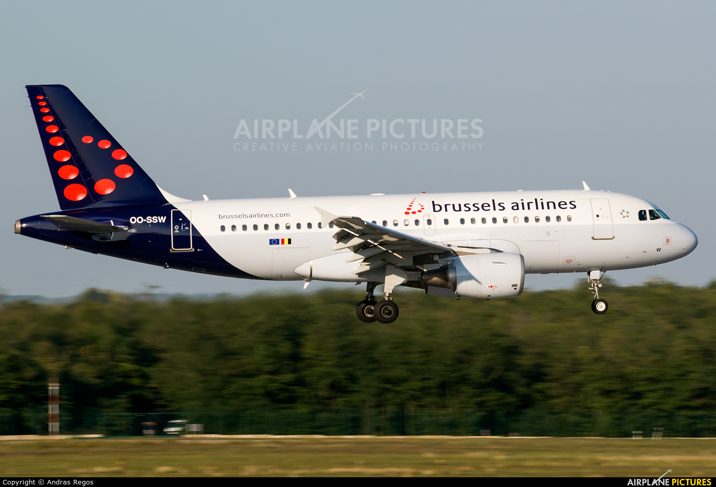 Brussels Airlines OO-SSW aircraft at Budapest Ferenc Liszt International Airport