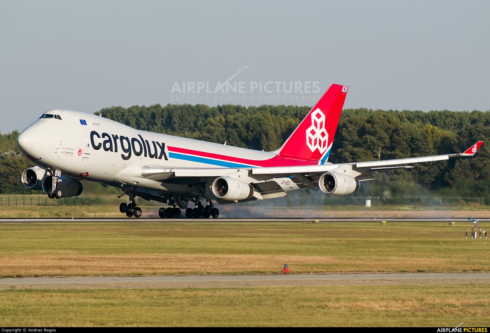 Cargolux LX-UCV aircraft at Budapest Ferenc Liszt International Airport