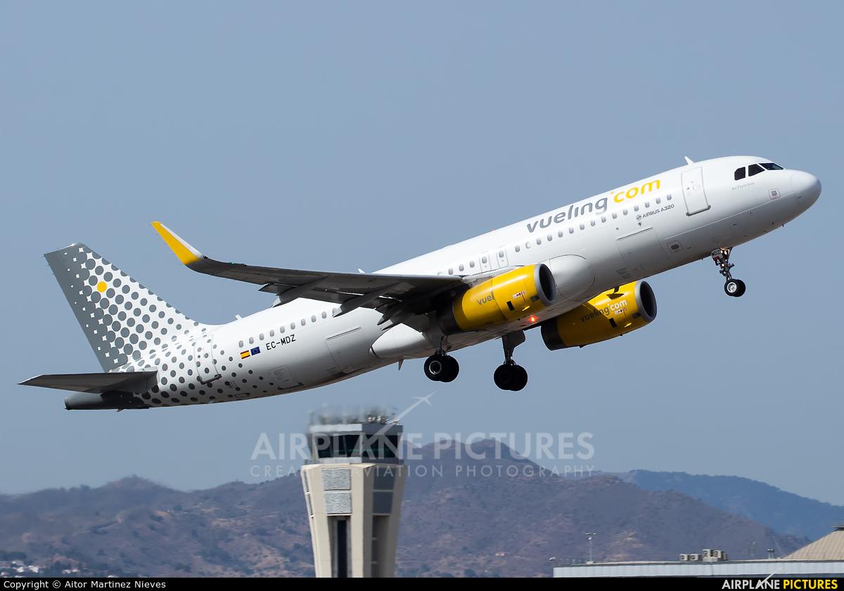 Vueling Airlines EC-MDZ aircraft at Málaga