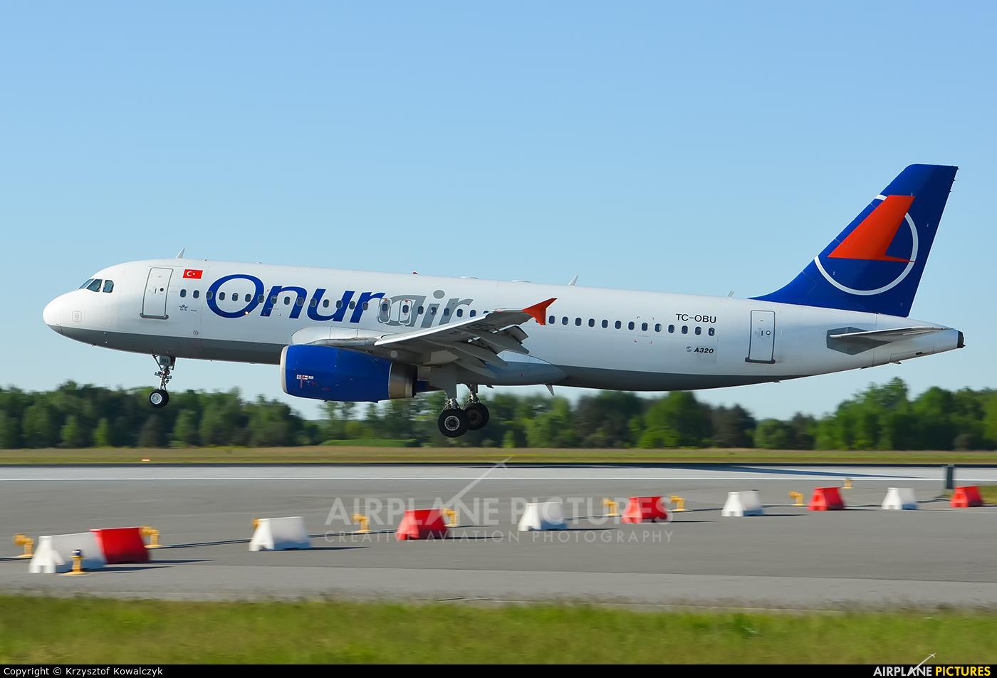 Onur Air TC-OBU aircraft at Katowice - Pyrzowice