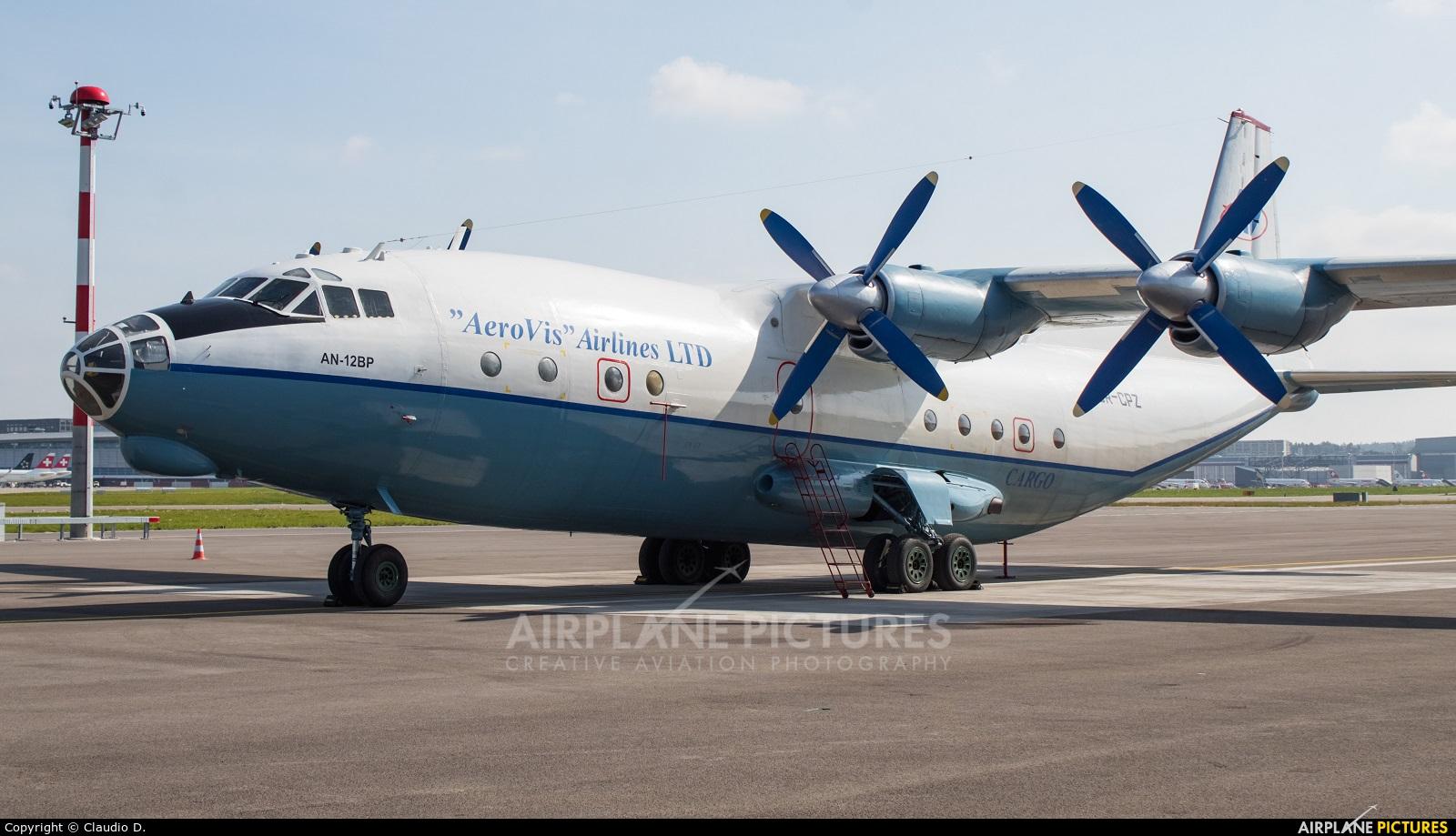 AeroVis Airlines UR-CPZ aircraft at Zurich