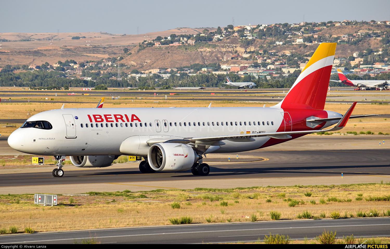 Iberia EC-MXU aircraft at Madrid - Barajas