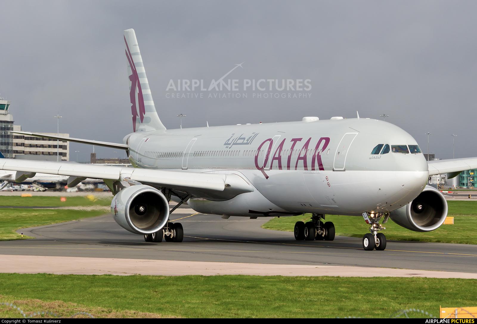 Qatar Airways A7-AEJ aircraft at Manchester