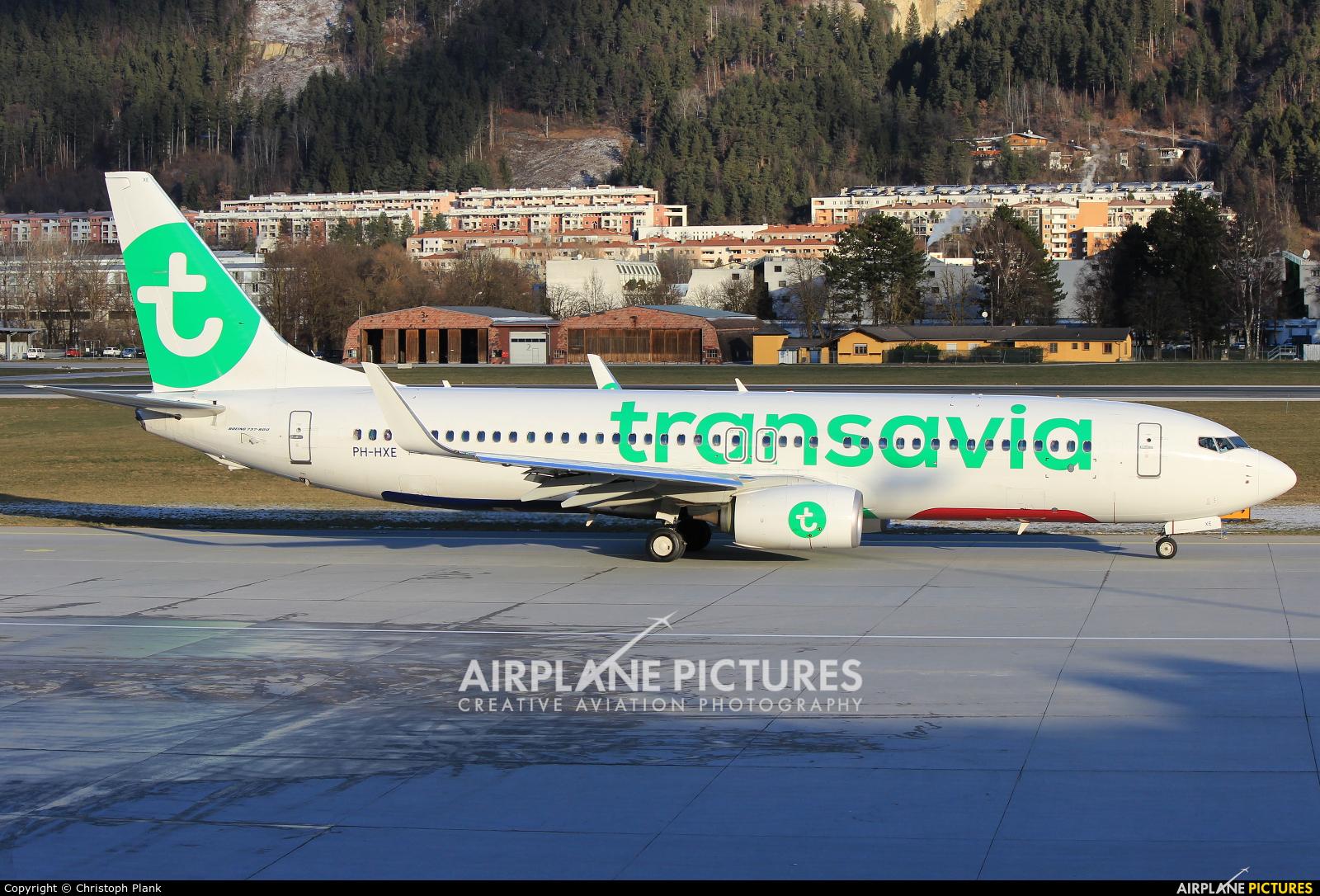 Transavia PH-HXE aircraft at Innsbruck