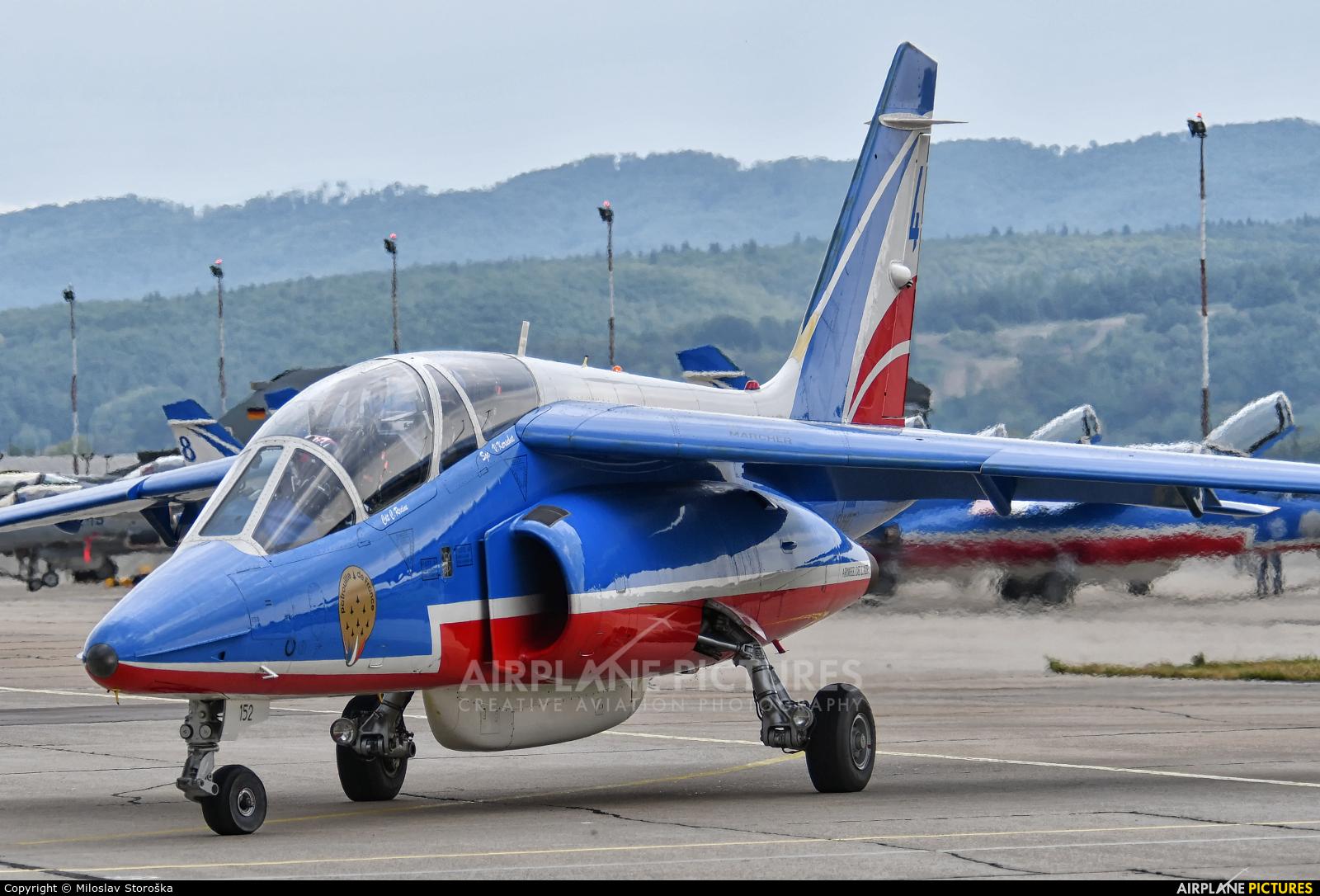 "France - Air Force ""Patrouille de France"" E152 aircraft at Sliač"