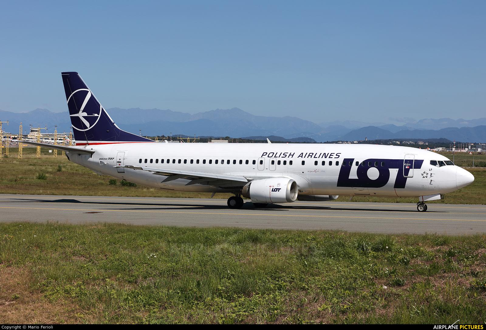 LOT - Polish Airlines SP-LLF aircraft at Milan - Malpensa