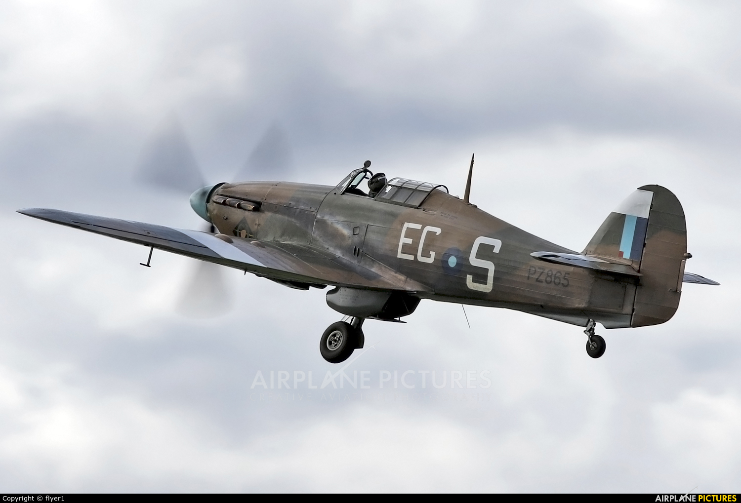 "Royal Air Force ""Battle of Britain Memorial Flight&quot PZ865 aircraft at Dunsfold"