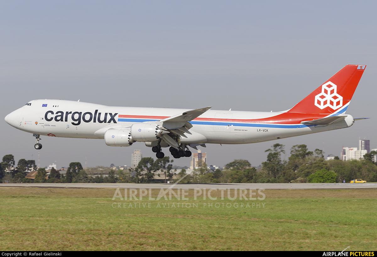 Cargolux LX-VCH aircraft at Curitiba -  Afonso Pena