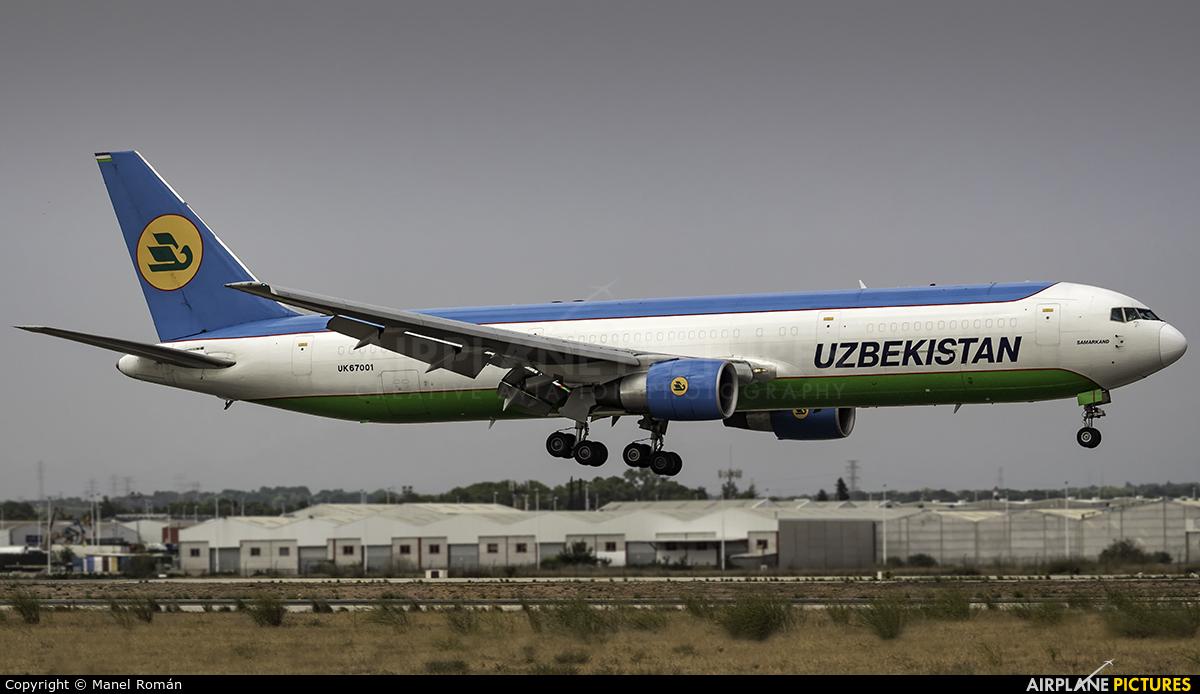 Uzbekistan Airways UK67001 aircraft at Valencia